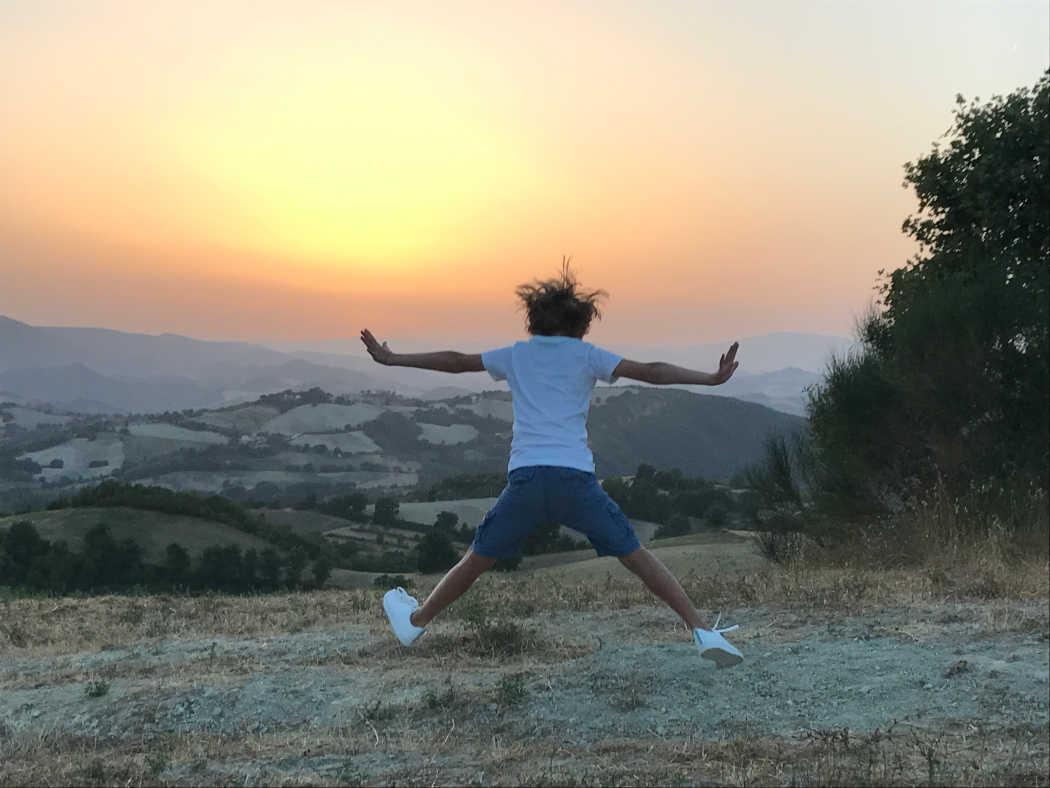 Op de berg bij Agriturismo Vellaneta