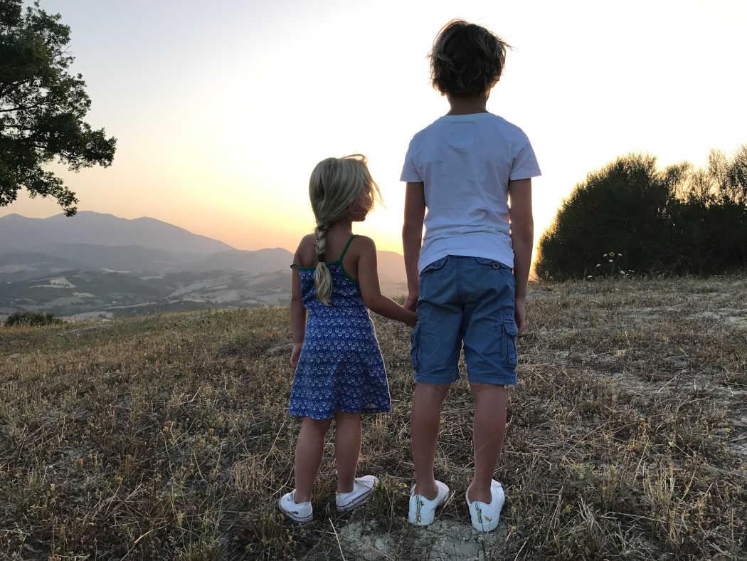 Zonsondergang tijdens de picknick Agriturismo Vellaneta